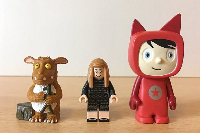 Tonies Beside a Lego Minifig to Compare Sizes, Image: Sophie Brown