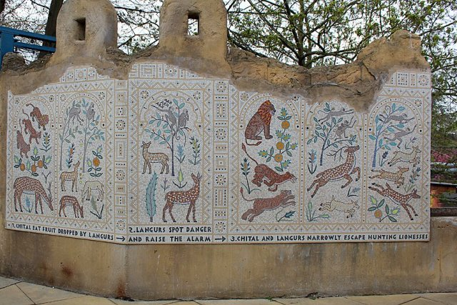 A Beautiful Mosaic Mural in the Langur Temple, Image: Sophie Brown