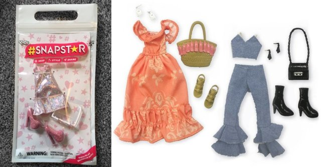 A Snapstar Fashion Pack and Two Additional Outfits from the Range, Images: Sophie Brown/YULU