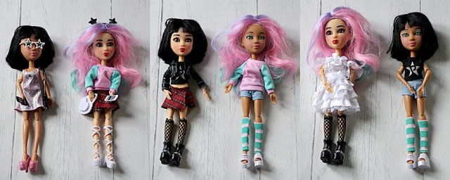 Snapstar Dolls in Different Outfits, Images: Sophie Brown