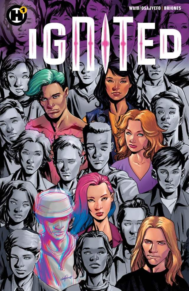 Cover of Ignited, showing multiple faces, some in color and some in grayscale