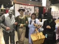 We met this group at Travis Hanson's booth. The witch kept putting her head down, well in character, but tough to see....