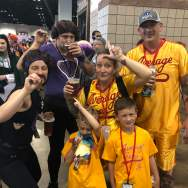 My husband brought this family to my attention. Dodgeball is one of our favorite movies!