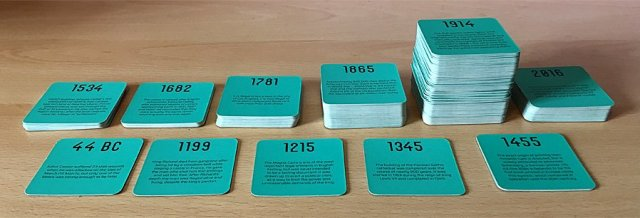 Placing the Past Cards Sorted by Century, Image: Sophie Brown