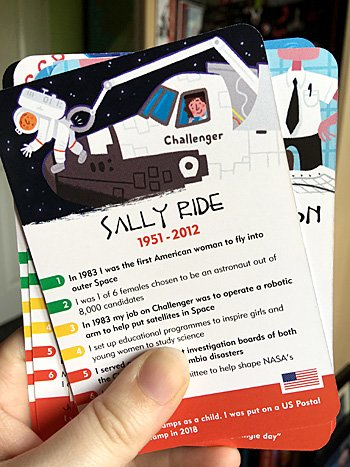 Sally Ride Card, Image: Sophie Brown