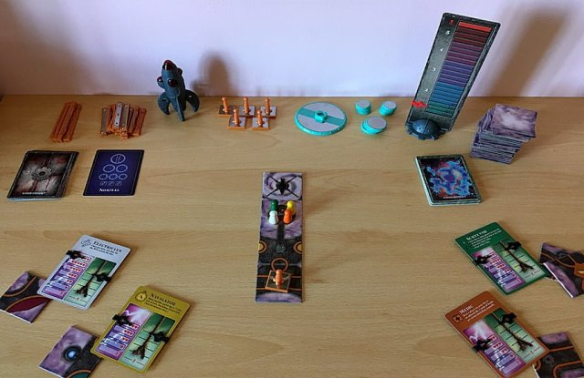 A game of Forbidden Sky set up to begin playing, Image: Sophie Brown