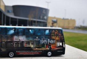 Corgi Warner Bros. Studio Shuttle Bus Model outside the Studio Tour, Image: Luke Austin