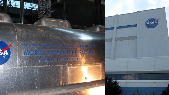 NASA's Mobile Quarantine Facility and Goddard Building, Images: Jenny Bristol