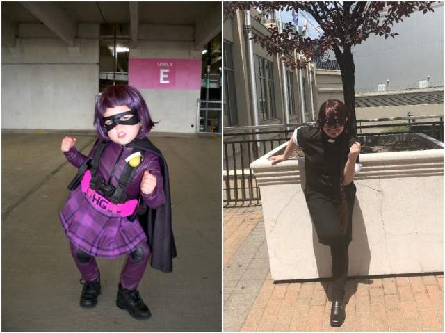 photos of the author's daughter in costume