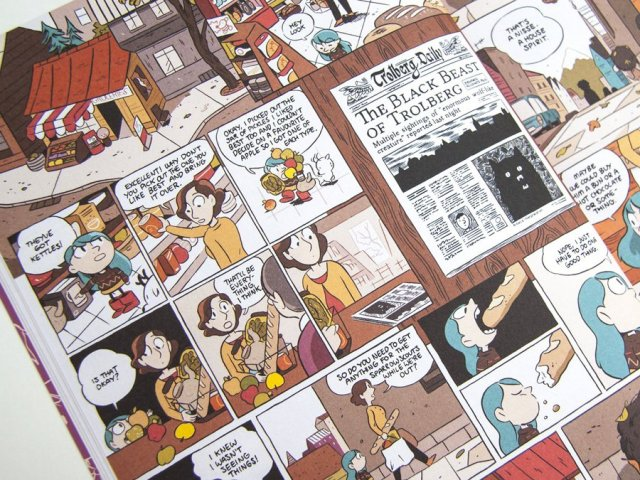 Sample Pages from Hilda and the Black Hound, Image: Flying Eye Books
