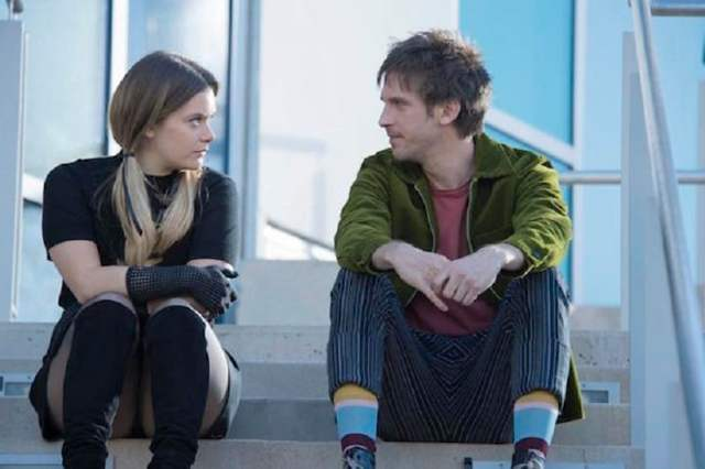 Rachel Keller as Sydney Barrett and Dan Stevens as David Haller