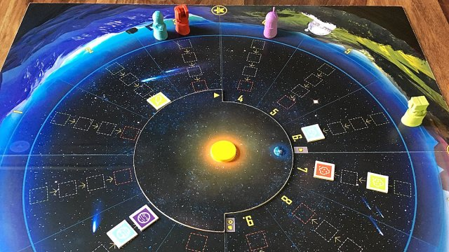 The Board at the End of a Game of The Search for Planet X, Image: Sophie Brown