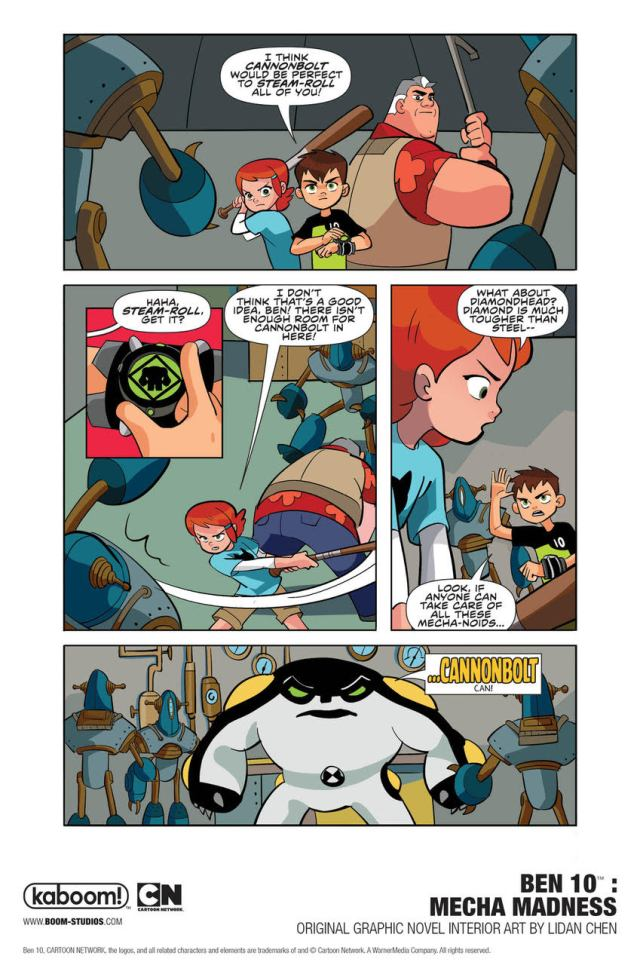 Ben 10: Mecha Madness page 3 \ Image: Boom Studios