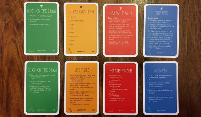 Examples of kNow! Card Types, Image: Sophie Brown