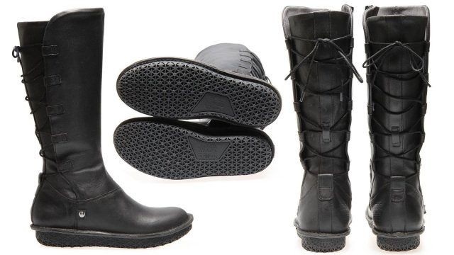 Rey Hi Boot in Black, Image:s Po-Zu