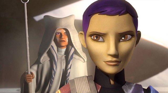 Ahsoka and Sabine in Star Wars Rebels, Image: Disney