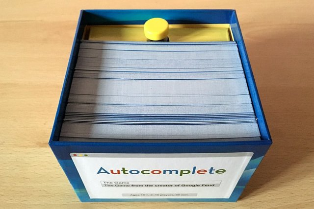 Autocomplete Packed in its Box, Image: Sophie Brown