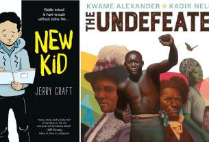 Covers of New Kid by Craft and The Undefeated by Alexander
