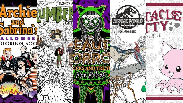 5 Weird and Wonderful Coloring Books, Images Archie, Boom, Dark Horse, IDW