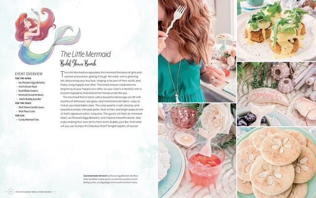 The Event Overview for a Little Mermaid Themed Bridal Shower Brunch, Image Insight Editions