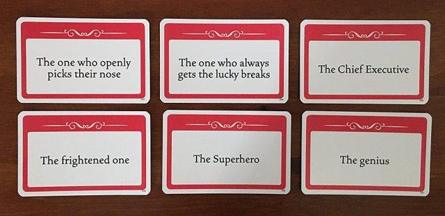 Example Description Cards, Image Sophie Brown