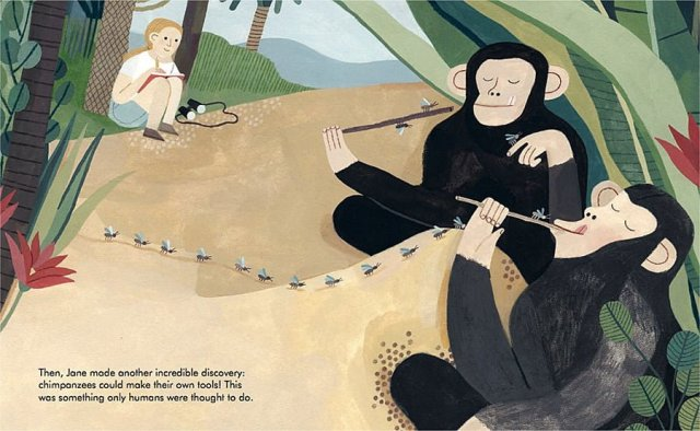 Jane Goodall Page Spread, Image Wide Eyed Editions