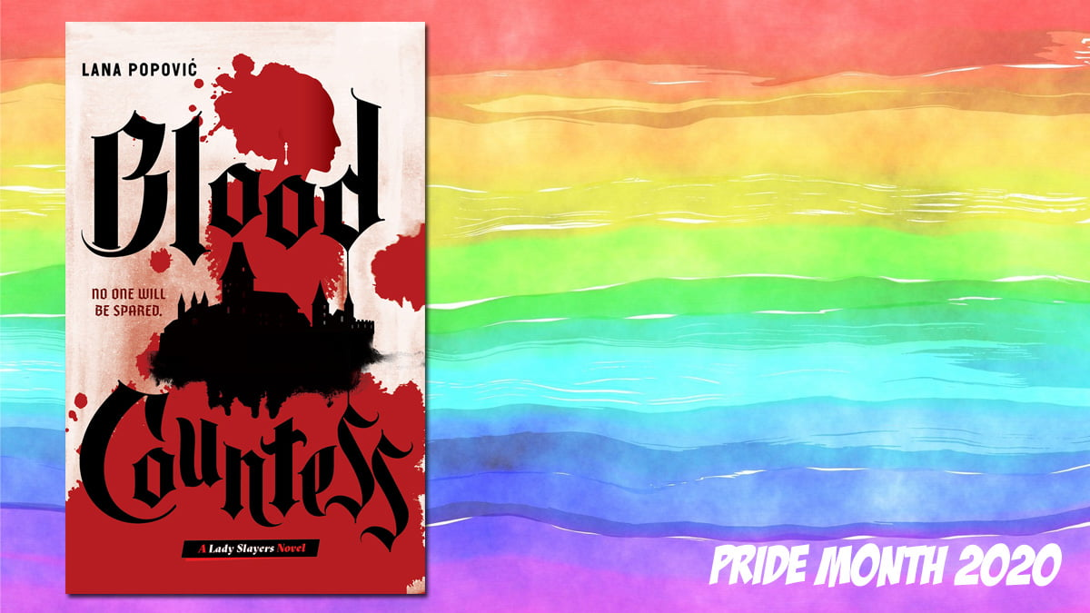 Pride Month Blood Countess, Background Image by Prawny from Pixabay, Cover Image Abrams Books