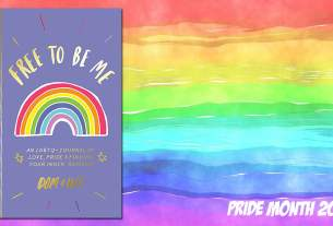Pride Month Free to be Me Journal, Background Image by Prawny from Pixabay, Cover Image Penguin Publishing Group