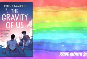 Pride Month The Gravity of Us, Background Image by Prawny from Pixabay, Cover Image Bloomsbury