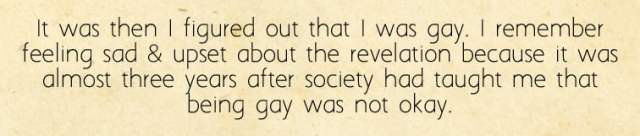 Kai Remembers Realizing He is Gay, Image Sophie Brown