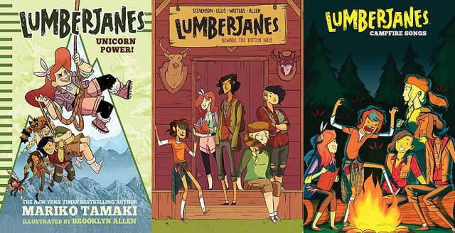 Lumberjanes Covers, Images Boom and Amulet Books