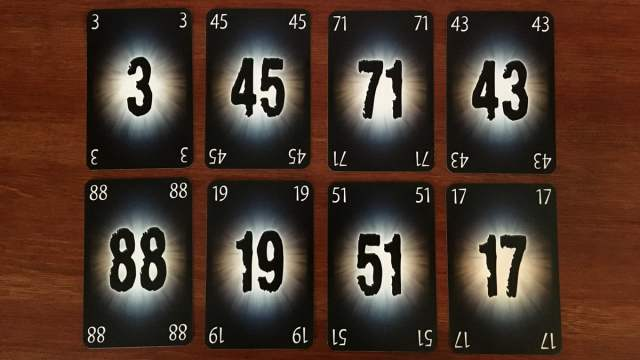 Number Cards from The Mind, Image Sophie Brown