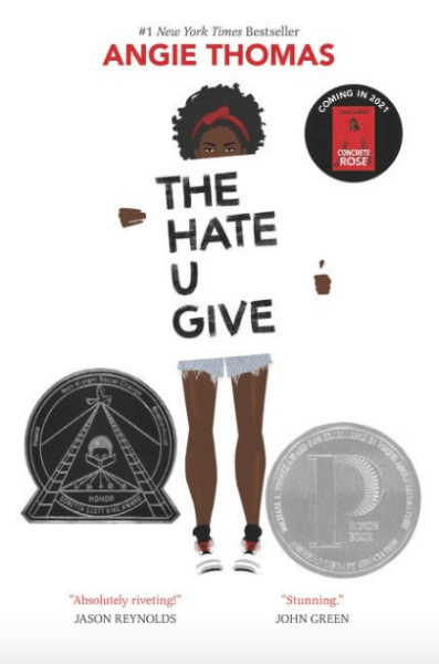 book cover for The Hate U Give
