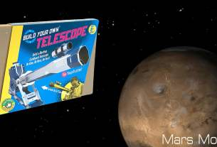 Build Your Own Cardboard Telescope, Box Image Build Your Own Kits, Mars Image NASA