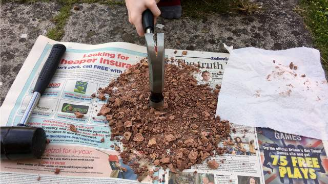 Using a Hammer to Create Martian Dirt, Image Sophie Brown