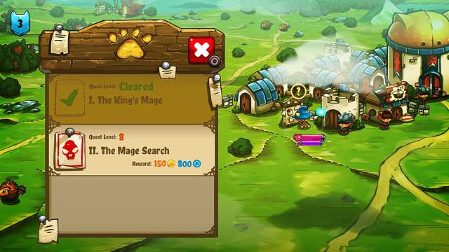 A Quest Board showing a cleared quest and a level 8 quest, as I am only level 3 here, this wouldn't be a good idea, Image The Gentlebros