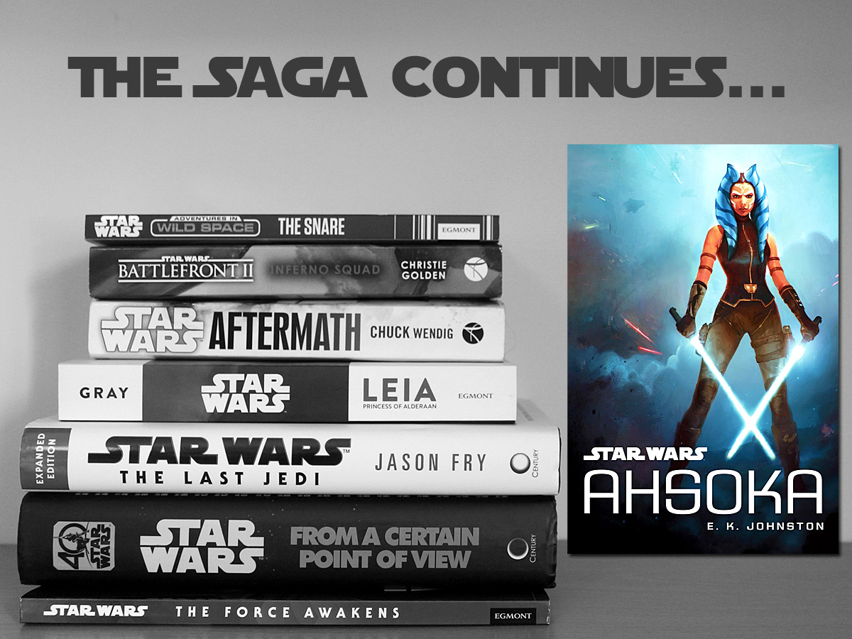 The Saga Continues, Ahsoka, Cover Image Disney Lucasfilm Press