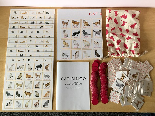 Cat Bingo Components, Image Sophie Brown