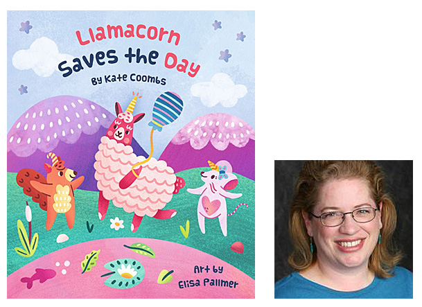 Llamacorn Saves the Day Cover Image Gibbs Smith, Author Image Kate Coombs