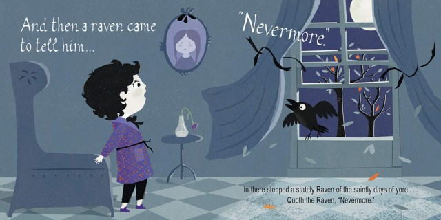 Nevermore Page Spread, Image Gibbs Smith