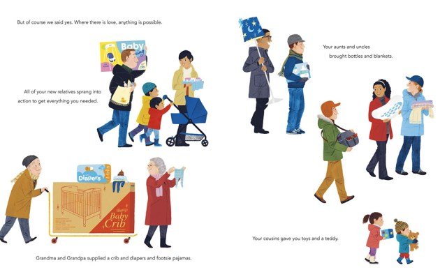 Our Subway Baby Page Spread, Image Dial Books