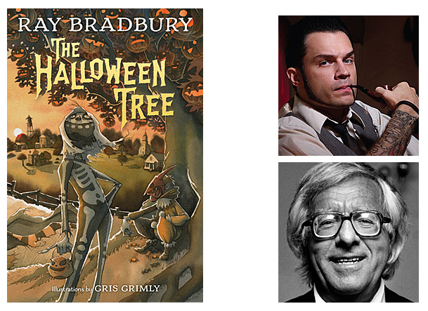 The Halloween Tree Cover Image Knopf Books for Young Readers, Author Image Ray Bradbury, Illustrator Image Gris Grimly