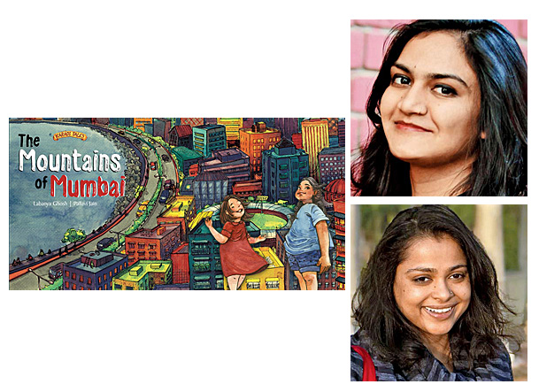 The Mountains of Mumbai Cover Image Karadi Tales, Author Image Labanya Ghosh, Illustrator Image Pallavi Jain