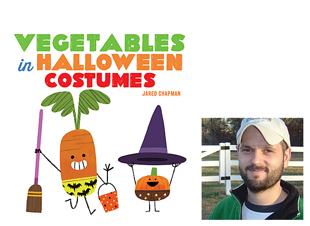 Vegetables in Halloween Costumes Cover Image Abrams Appleseed, Author Image Jared Chapman