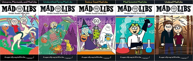 Halloween Party Mad Libs Contents, Images Mad Libs