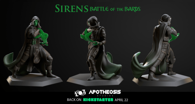 Sirens: Battle of the Bards Minis