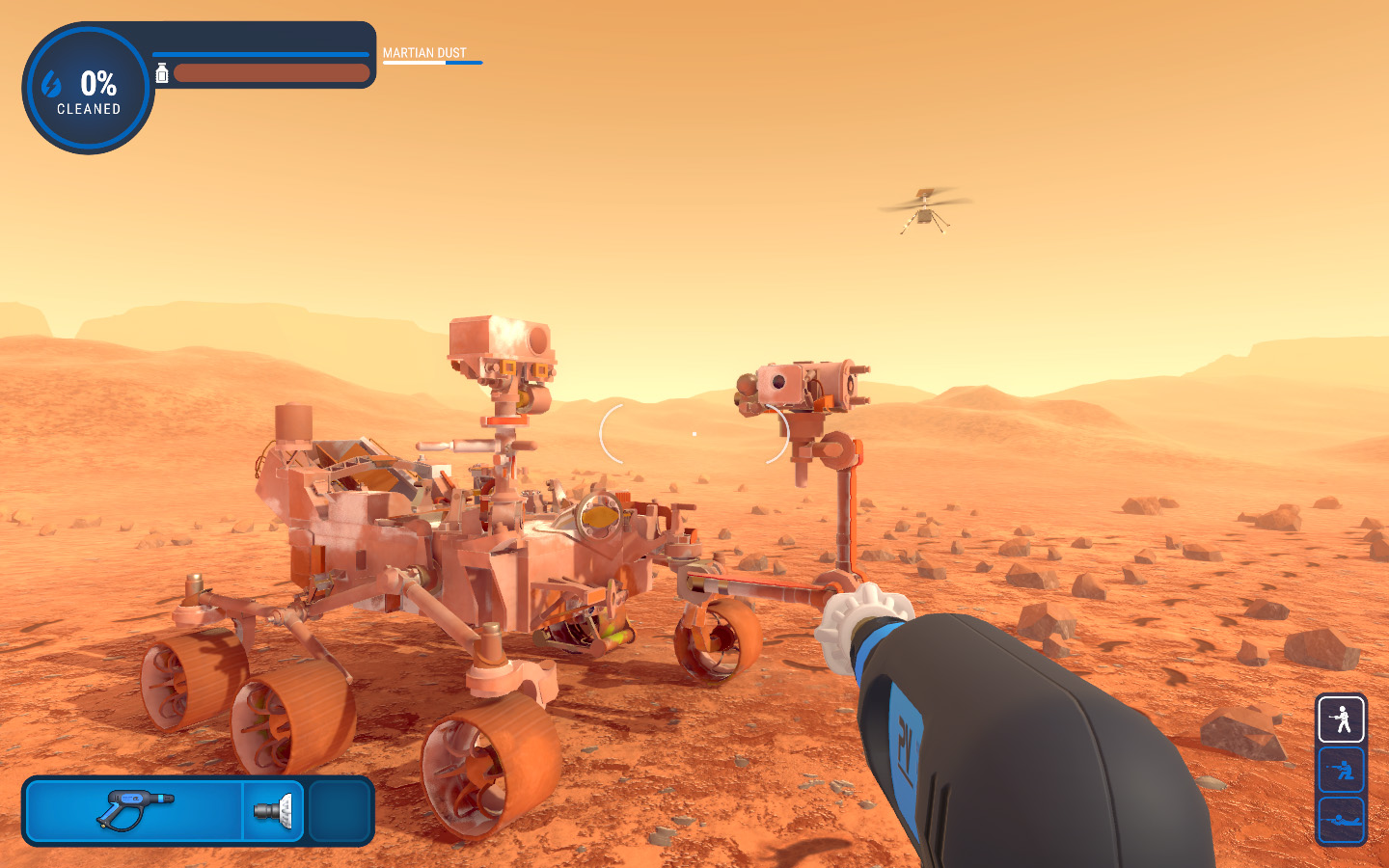 Cleaning the Mars Rover,Screenshot by Sophie Brown