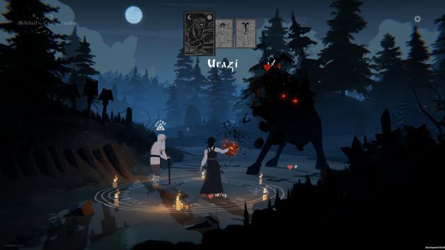 Screenshot from Black Book battle