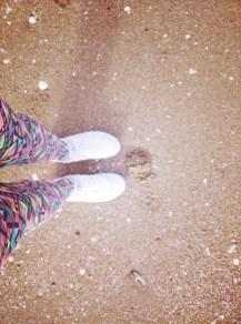 Petit jogging matinal sur la plage....