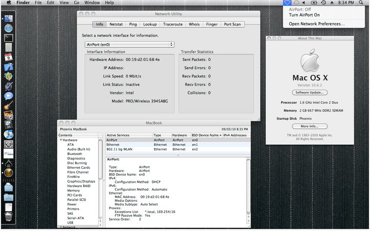 Intel 3945 Wireless Driver for Snow Leopard [Hackintosh]